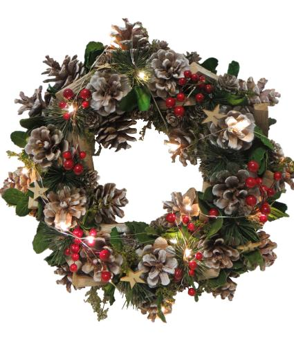 LED Festive Foliage Christmas Wreath