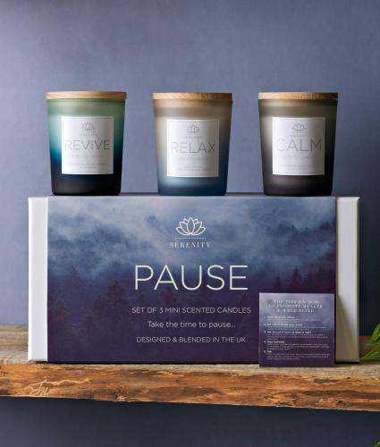 Serenity Pause Set of 3 Candles