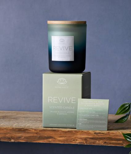 Serenity Revive Candle - Orange Blossom, Jasmine & Saffron