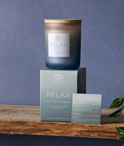 Serenity Relax Candle - Rose, Cardamom & Pink Pepper