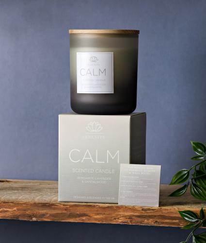 Serenity Calm Candle - Bergamot, Lavender & Sandalwood - Large (270g)