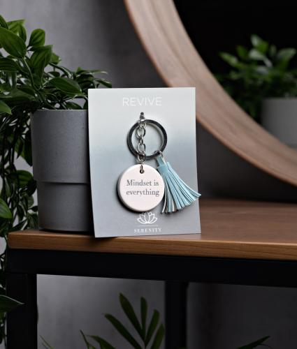 Serenity Inspirational Ceramic Keyring - Mindset is Everything