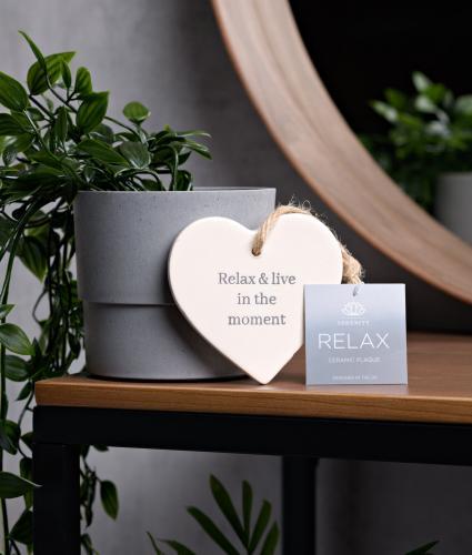 Serenity Handmade Ceramic Plaque - Relax