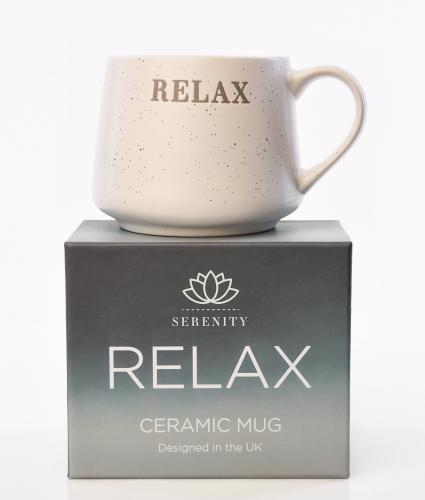 Serenity Debossed Mug - Relax