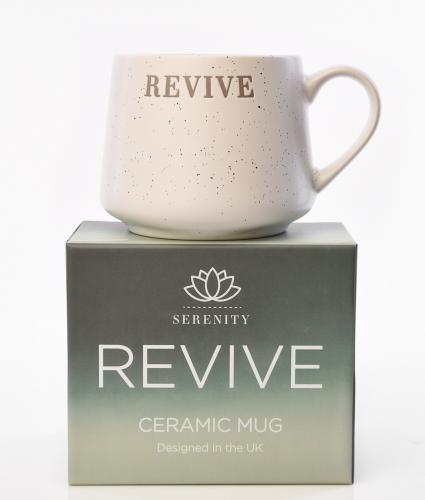 Serenity Debossed Mug - Revive