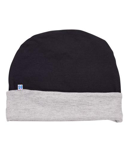 Hipheadwear Mens Reversible Beanie in Black/Grey