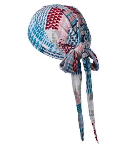 Hipheadwear Jersey Knot Headwrap in Pink/Blue Print