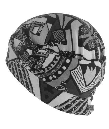 Hipheadwear Turban Cap in Urban Abstract Print