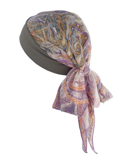 Hipheadwear Chiffon Bandana in Paisley Print