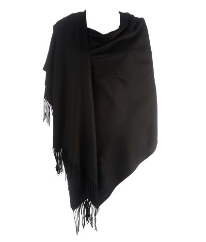 Cavallo Moda Large Soft Pashmina Scarf in Black