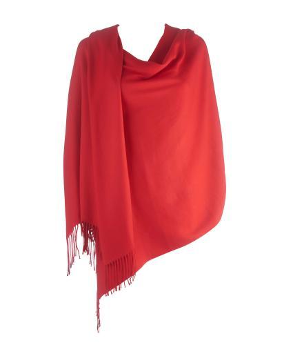 Cavallo Moda Large Soft Pashmina Scarf in Red