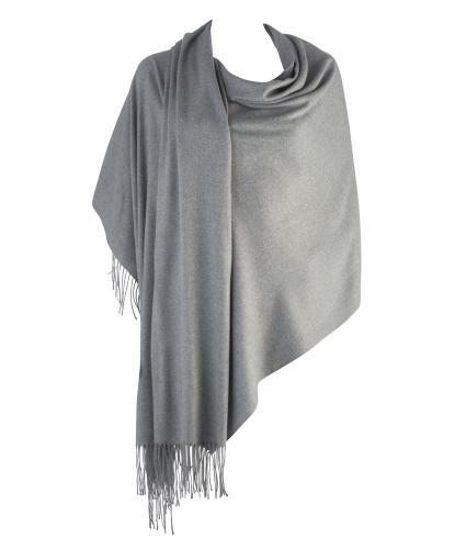 Cavallo Moda Large Soft Pashmina Scarf in Light Grey