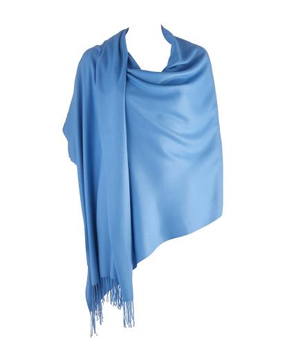 Cavallo Moda Large Soft Pashmina Scarf in Sky Blue