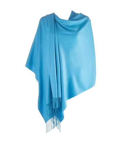 Cavallo Moda Large Soft Pashmina Scarf in Steel Blue