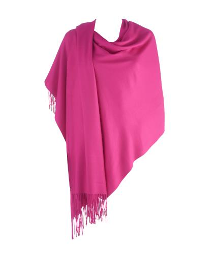 Cavallo Moda Large Soft Pashmina Scarf in Raspberry Pink