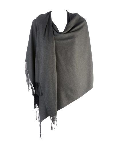 Cavallo Moda Large Soft Pashmina Scarf in Dark Grey