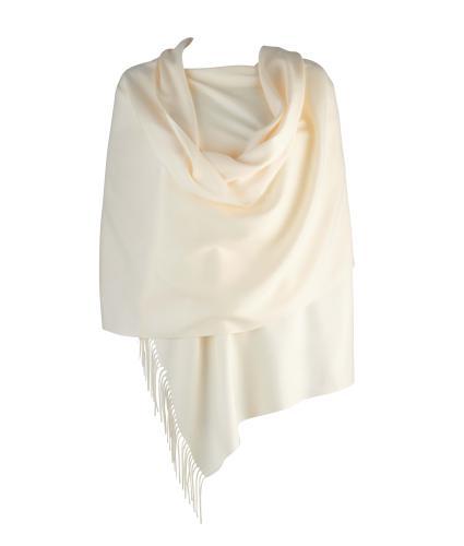 Cavallo Moda Large Soft Pashmina Scarf in White