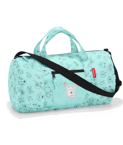 Reisenthel Cats and Dogs Compact Weekender Duffle in Green
