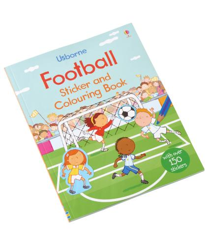 Usborne Football Sticker and Colouring Book