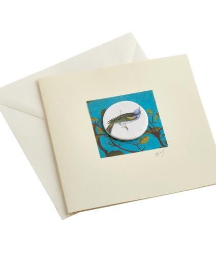 CB Ceramics Song Bird Button Greetings Card