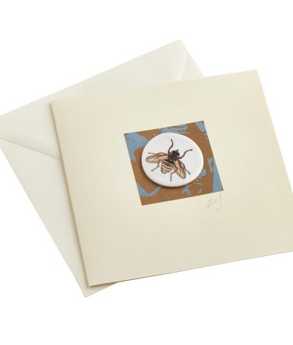 CB Ceramics Honey Bee Button Greetings Card