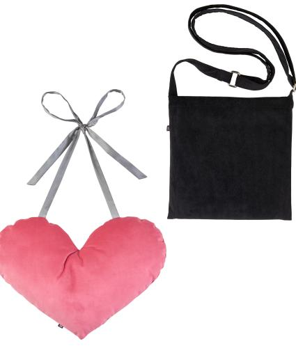 2 Piece Mastectomy Gift Collection, Pink Velvet & Black Corduroy