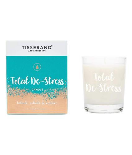 Tisserand Frosted Glass Total De-Stress Candle