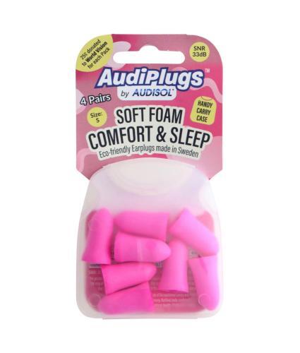 Audisol AudiPlugs Comfort & Sleep Ear Plugs 8 pack