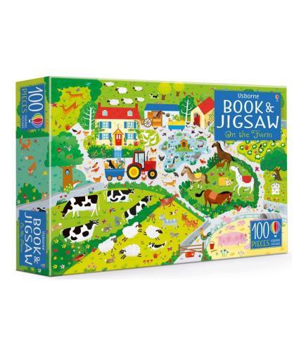 Usborne Book and Jigsaw: On the Farm
