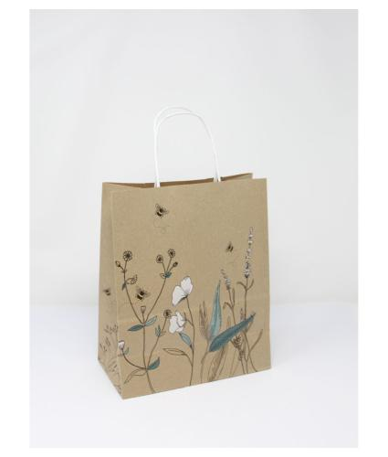Eco Nature Sustainable Bumblebee Floral Gift Bag - Medium