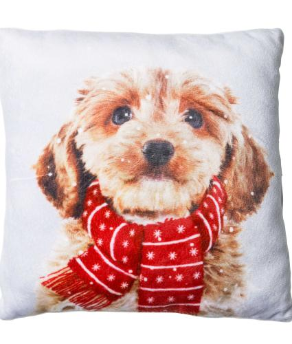 Large Winter Dog Cushion