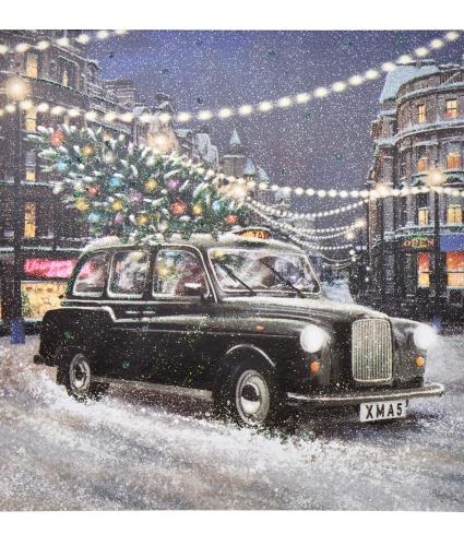 London Taxi Christmas Cards - Pack of 10