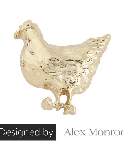 Mrs Chicken Pin Badge by Alex Monroe