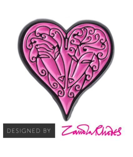 Zandra Rhodes Heart Pin Badge