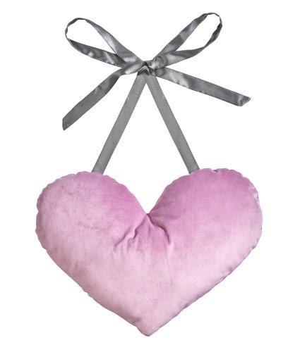 Post Surgery Heart Cushion in Purple Velvet