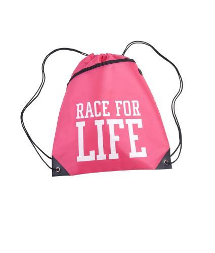 Race for Life Drawstring Bag