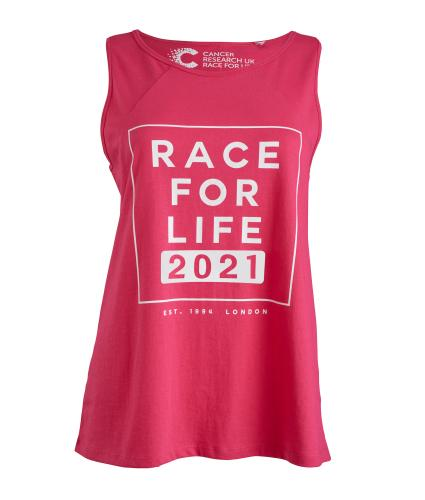 Race for Life 2021 Dated Loose Fit Vest