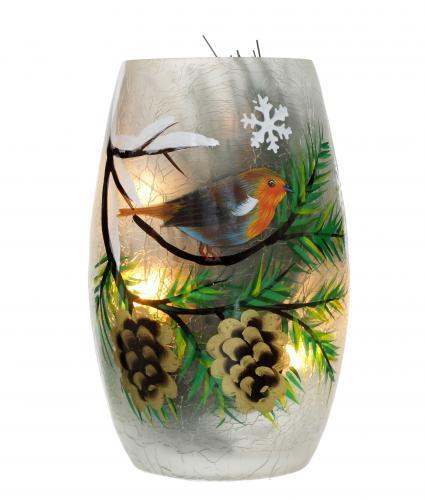 robin vase cancer research uk christmas gift