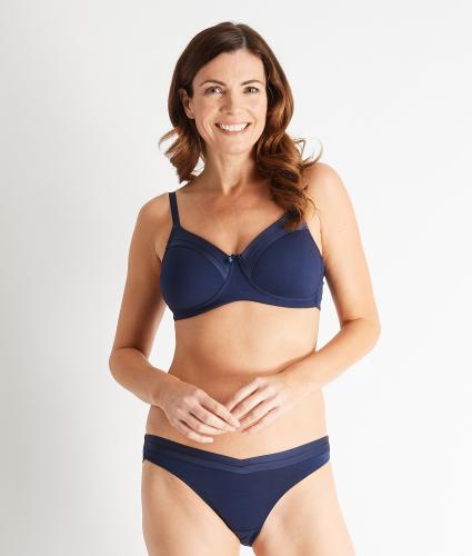 Royce Maisie Pocketed Soft T-shirt Bra in Navy