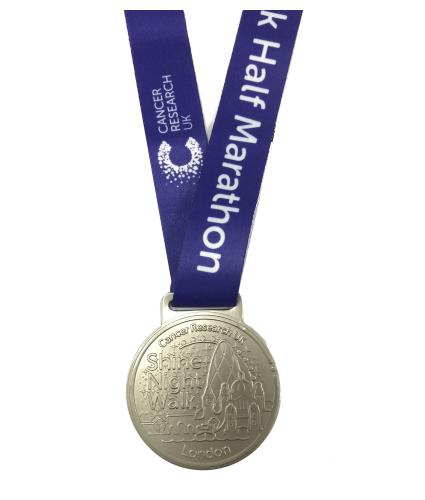 Shine Night Walk 2020 Medal - Half Marathon