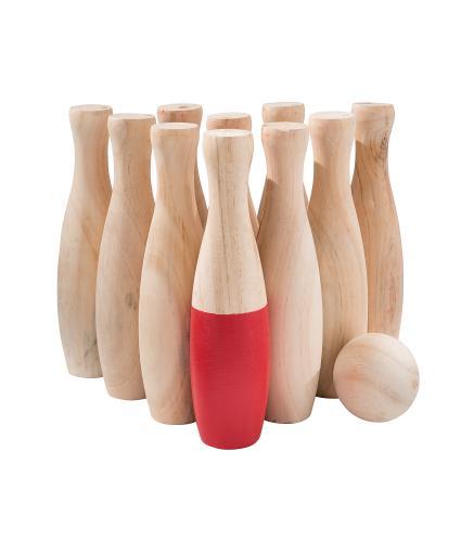 Wooden Skittles Set