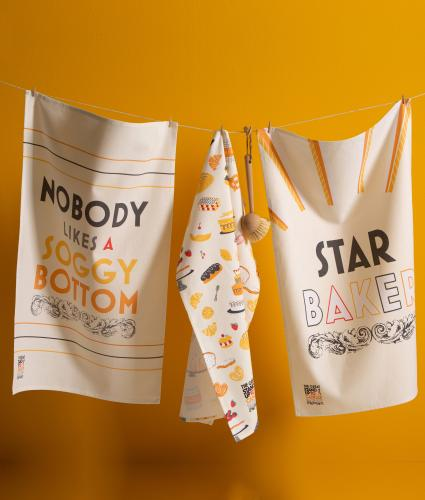 The Great Stand Up To Cancer Bake Off 2021 Star Baker Tea Towels - Pack of 3