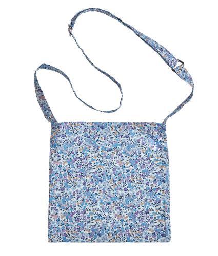Shoulder Drain Bag in Purple Flower Print