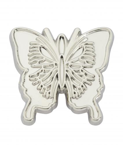 Silver Butterfly Pin Badge, Cancer Research UK