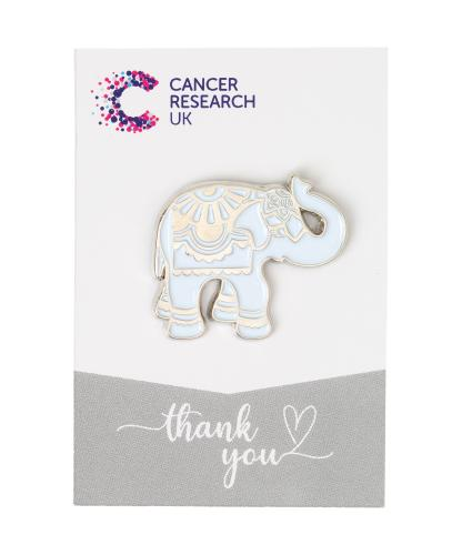 Silver Elephant Pin Badge