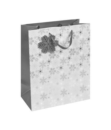 Silver Snowflakes Large Gift Bag1