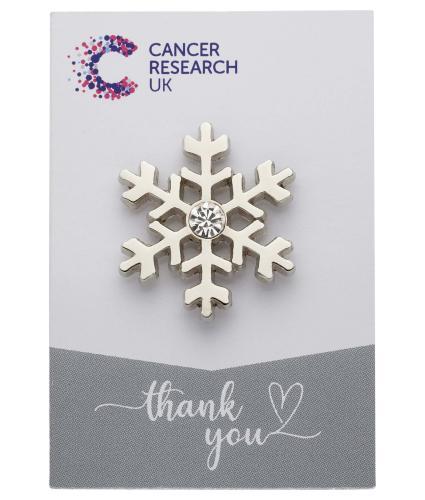 Snowflake Pin Badge