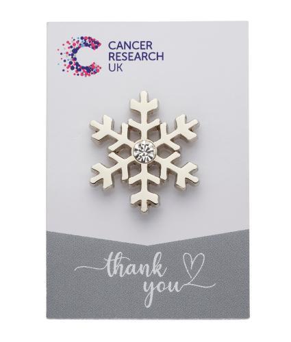 Snowflake Pin Badge Wedding Favour