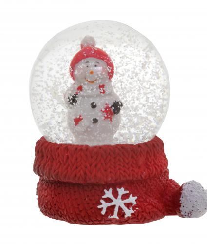 Mini Snowman Water Globe Cancer Research UK Christmas Gift