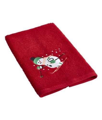 Snowman Guest Towel